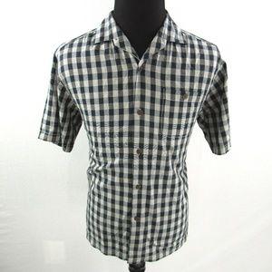 Tommy Bahama Gingham Silk Hawaiian Shirt